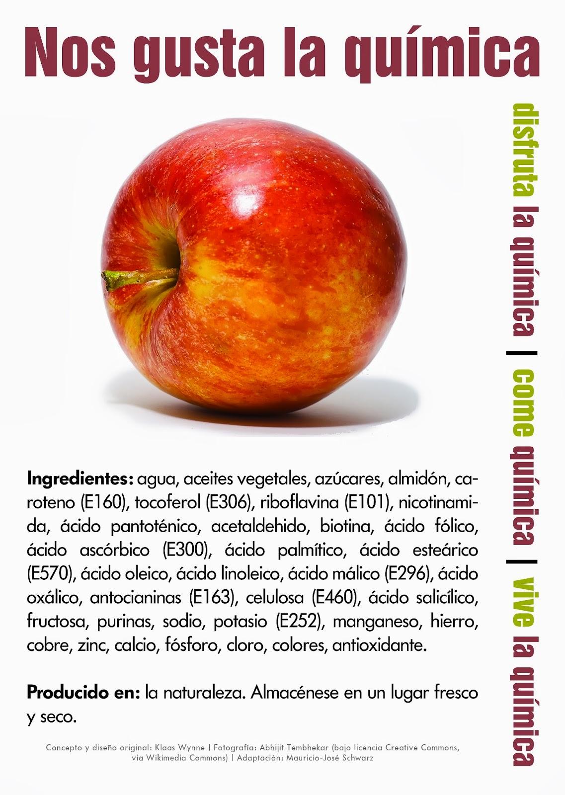 Nos gusta la quimica entrada n 500 una manzana xabier for Resumen del libro quimica en la cocina